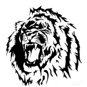 Эскиз для тату со львом