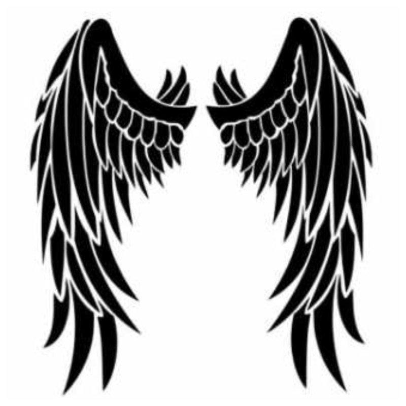 Крылья ангела - эскиз тату