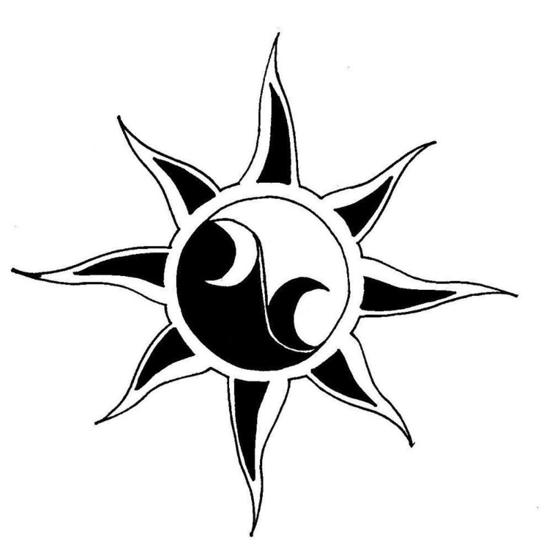 Звездная тематика эскиза для тату