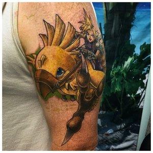 Оригинальное цветное фэнтези тату