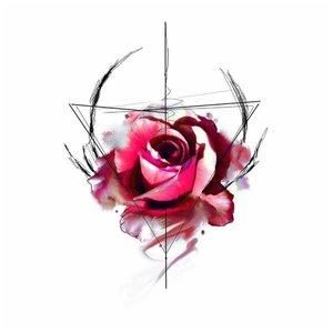 Эскиз тату для акварели - роза