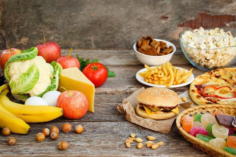 Полезная пища и фастфуд