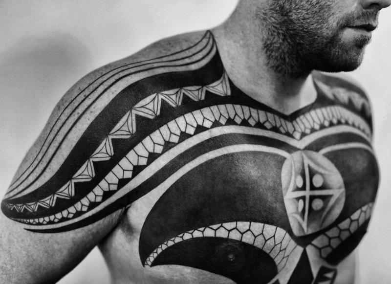 Татуировка блэкворк