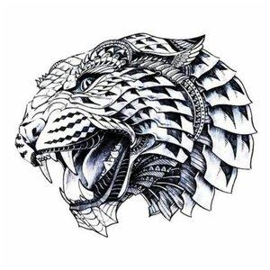 Оскал хищника - эскиз для тату