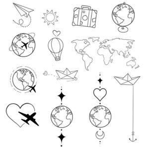 Разные фигурки эскизы для тату