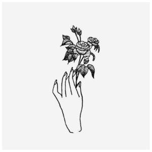 Рука девушки и цветы - эскиз для тату