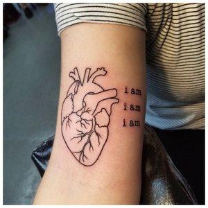 Контурное сердце с надписью