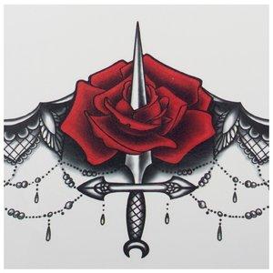 Эскиз тату-мандала с розой