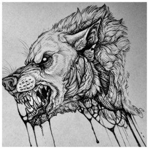 Хищный зверь - эскиз тату