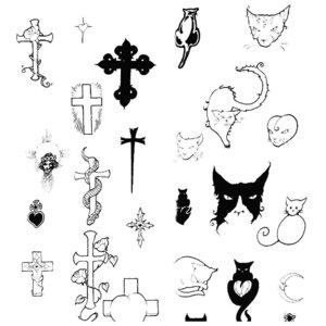 Загробная тематика эскизов для тату