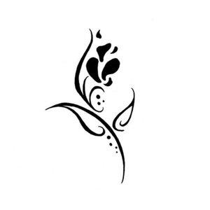Красивый цветок эскиз для тату