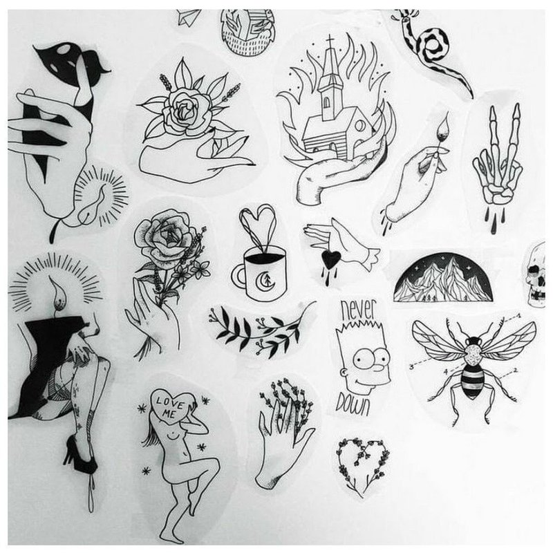 Маленькие фигурки эскизы для тату