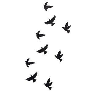 Летящие птицы эскиз для тату