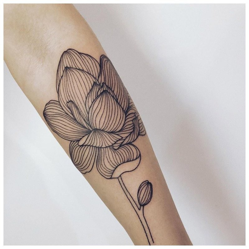 Лайнворк-цветок