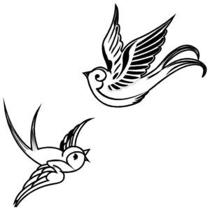 Эскиз тату птиц
