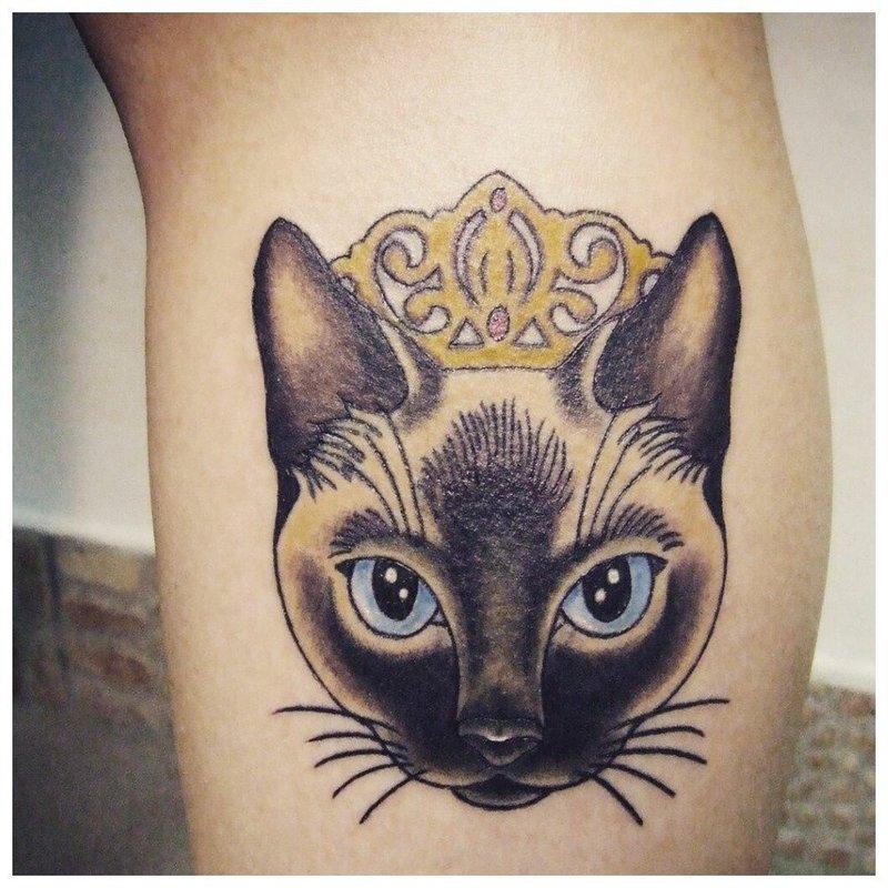 Реалистичная кошечка - тату