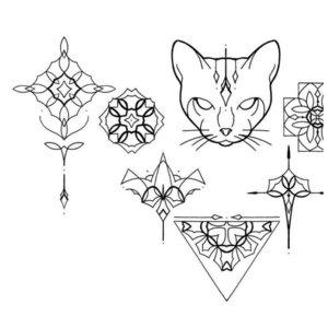 Эскиз разных мини-тату