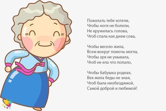 Поздравление бабушке с днем рождения