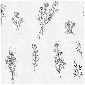 Маленькие цветы эскизы для тату