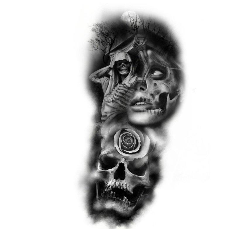 Эскиз тату в стиле реализма и готики