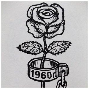 Эскиз тюремной тату для женщин в виде розы