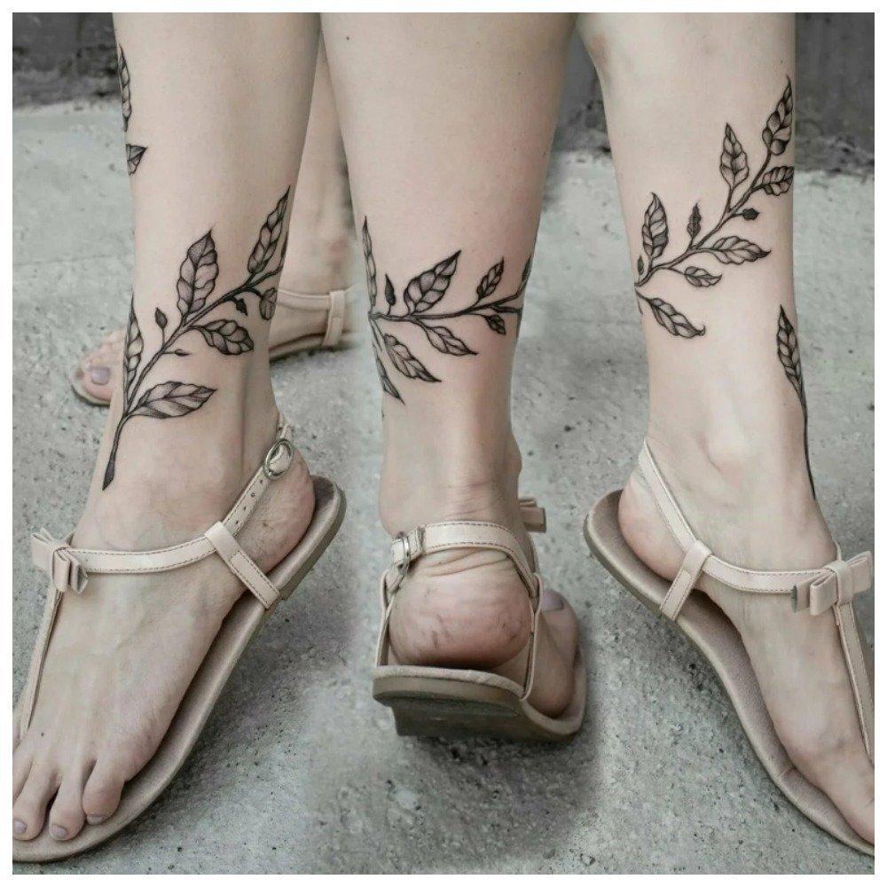 фото татуировок вокруг ноги познакомимся этой удивительной