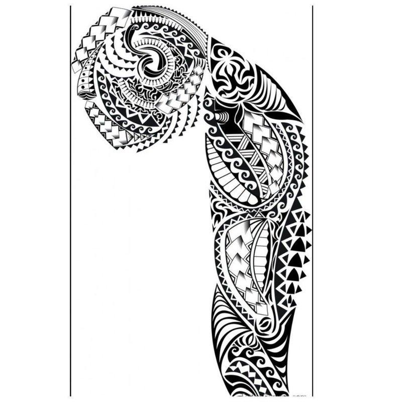 Эскиз тату с маори фрагментами