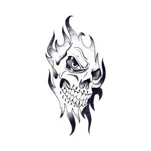 Череп - оригинальный эскиз для тату