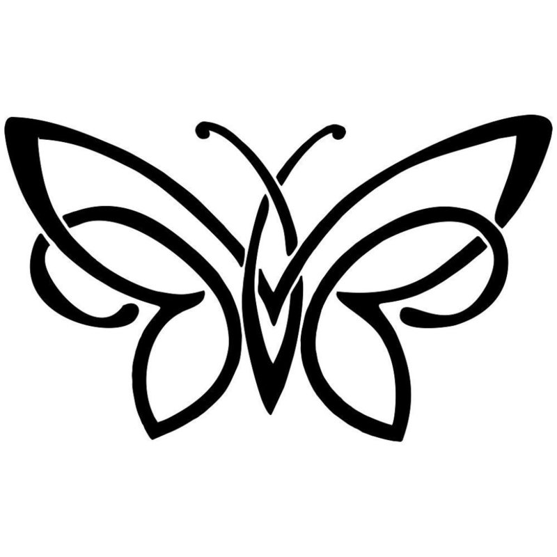 Бабочка эскиз для тату