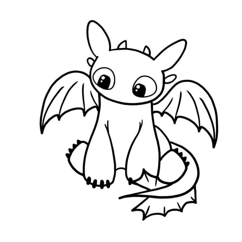 Дракон беззубик эскиз для тату