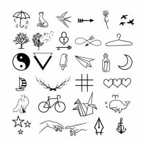 Эскизы минималистичных тату