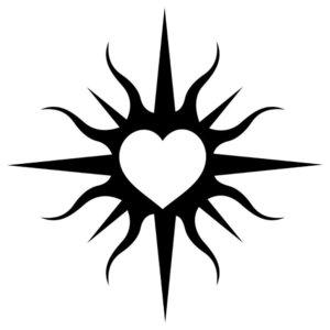 Символическое сердце - эскиз для тату