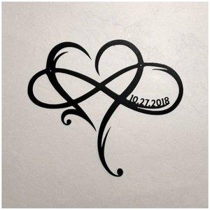 Сердце и надпись - эскиз для тату