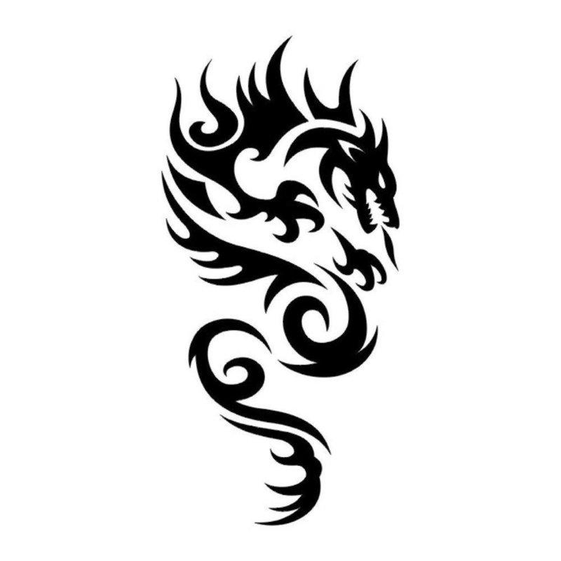 Эскиз для тату дракон
