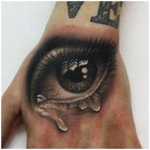 Тату глаз в стиле 3D