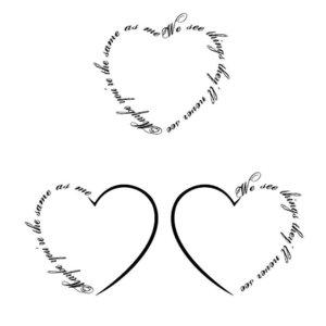 Эскизы сердце для тату