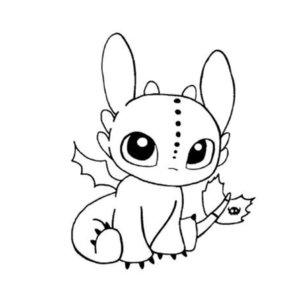 Милый эскиз дракона для тату