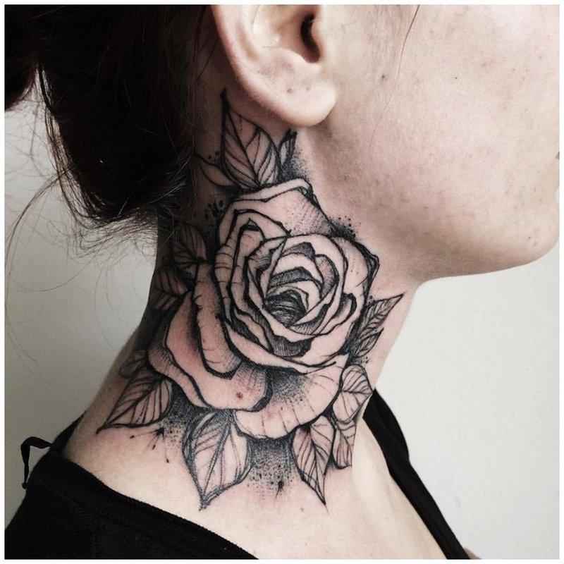 Красивая тату розы