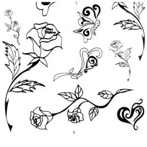 Тату розы с цветами