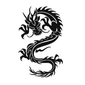 Дракон эскиз для тату