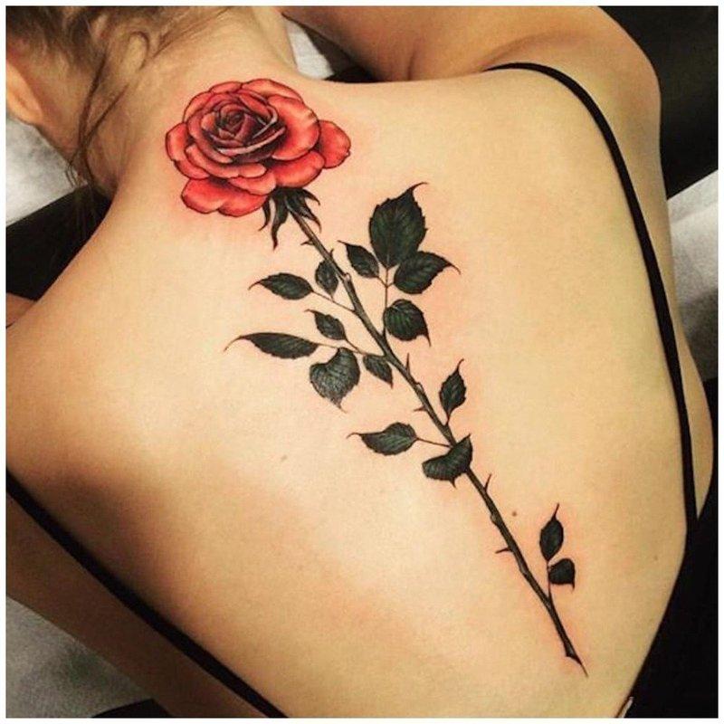 Тату розы на руке