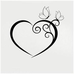 Эскиз сердце для тату