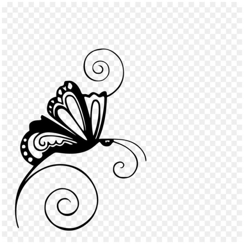 Красивый эскиз бабочки для тату