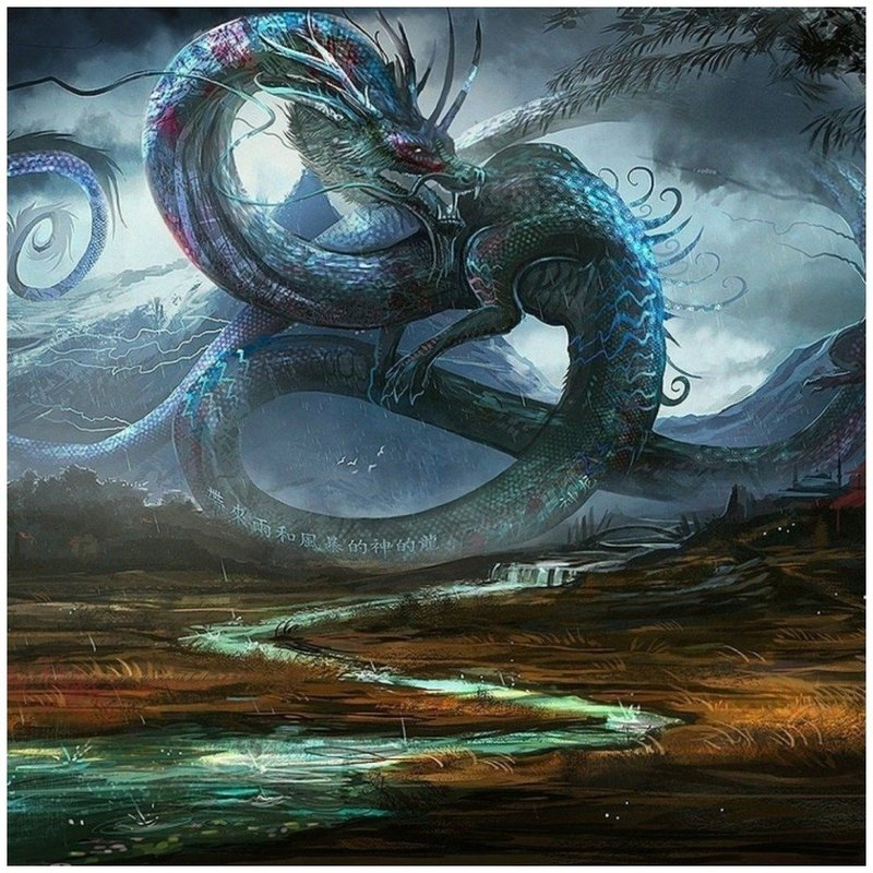 Китайский дракон рисунок для тату