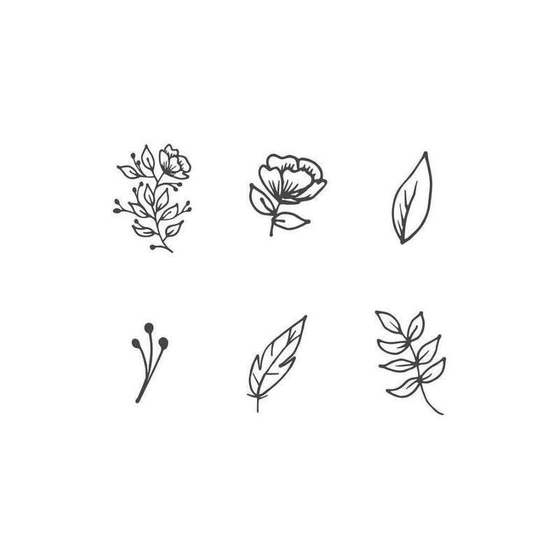 Маленькие цветочки - эскизы тату на руку