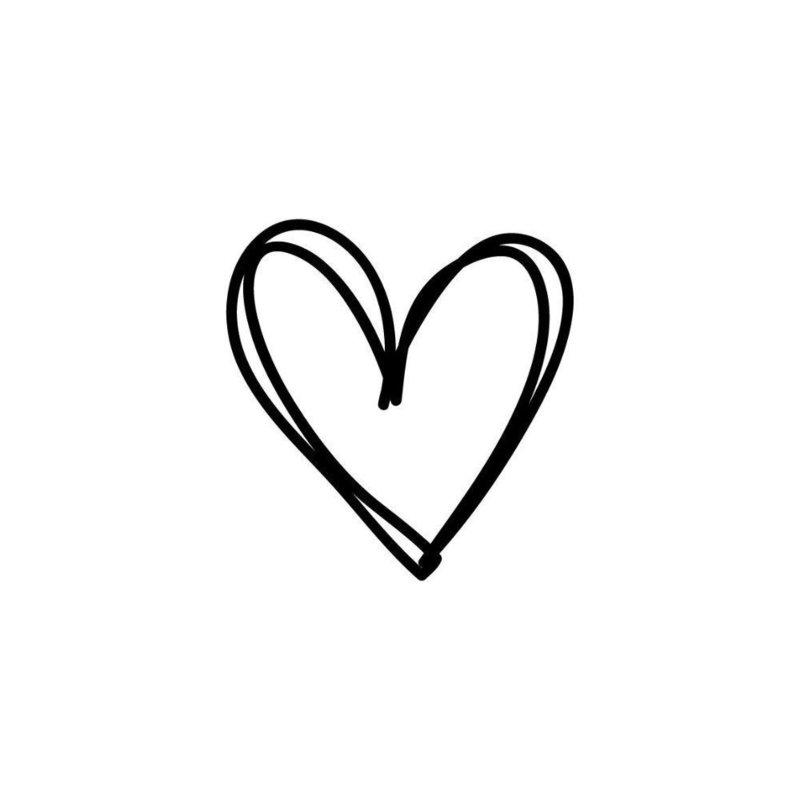Сердце эскиз тату