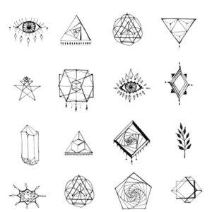 Маленькие символические эскизы тату