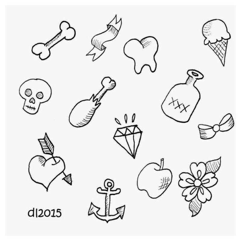 Оригинальные маленькие фигурки эскизы для тату