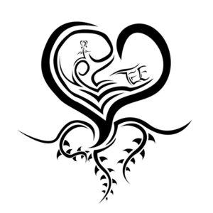 Оригинальное сердце эскиз для тату