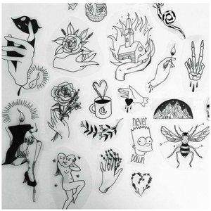 Небольшие фигурки эскизы для тату